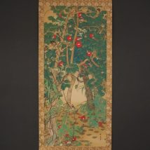 椿樹小禽図