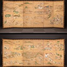 一双 鴨川有楽図屏風 17~18世紀 風俗画 浮世絵