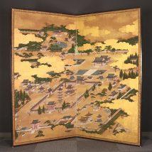 四天王寺図屏風 17~18世紀 二枚折