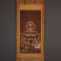 仏画 八臂弁財天御尊像 室町~桃山時代 中国画