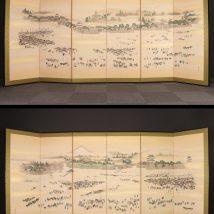江戸城風景図屏風