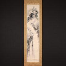 <橋本関雪>竹籟泉聲図