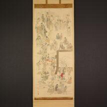 <波島>松前絵師が四条派を学んだ頃の稀品!書画展観図