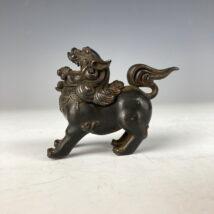 時代 小さい獅子香炉 銅製 古銅 中国 古玩(HP320)