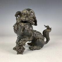 古銅七宝玉獅子香炉(HP326)